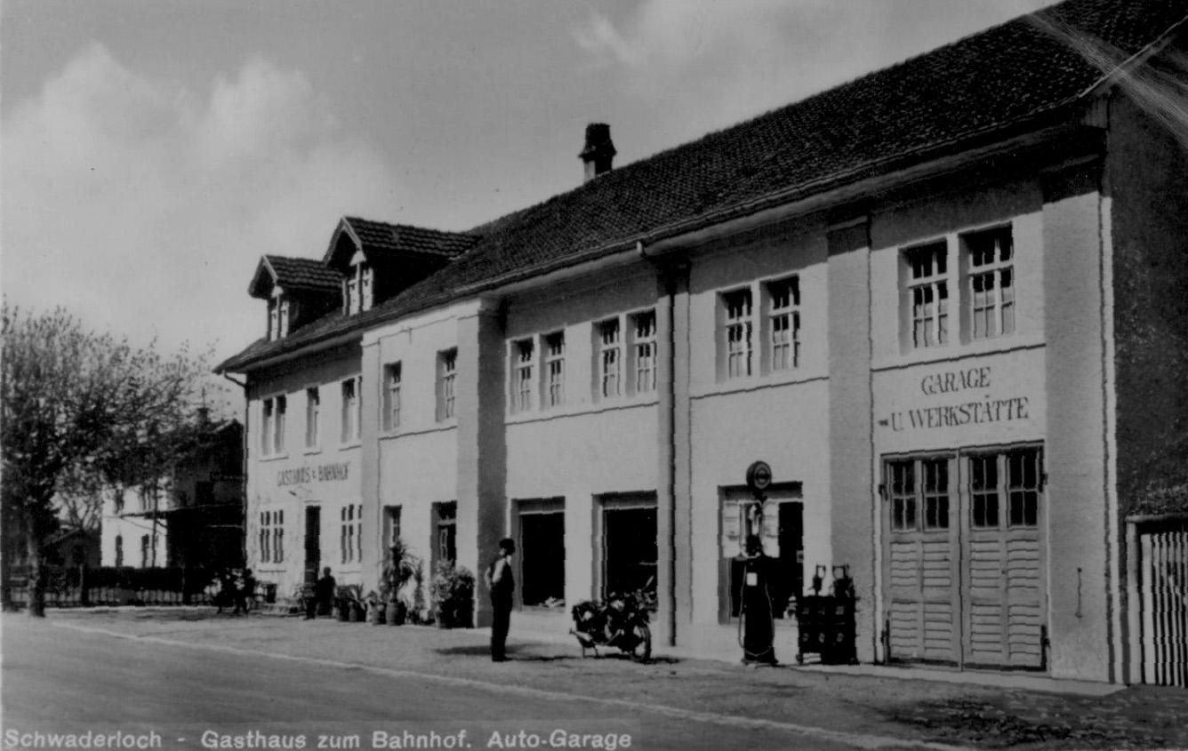 Restaurant Bahnhof Schwaderloch - Geschichte